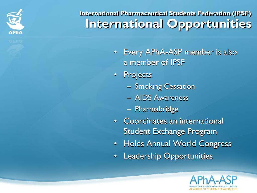 International Pharmaceutical Students Federation (IPSF)