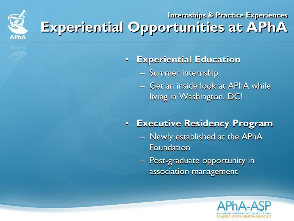Internships & Practice Experiences