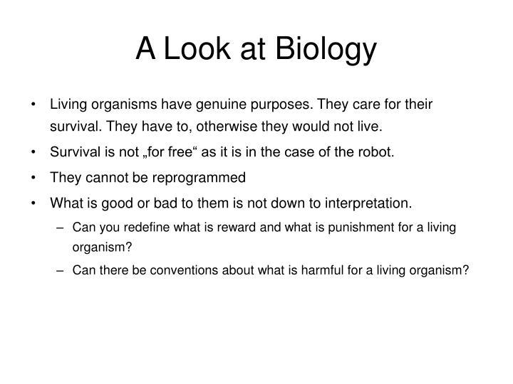 A Look at Biology