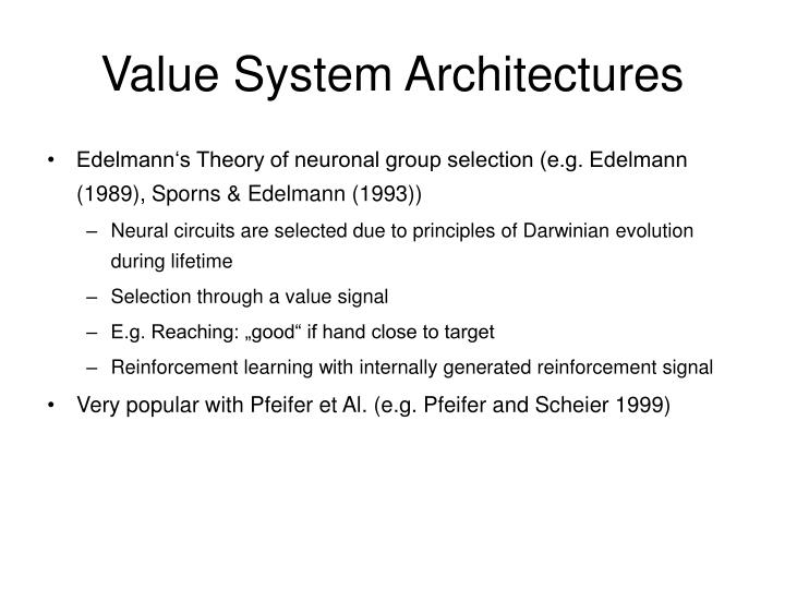 Value System Architectures