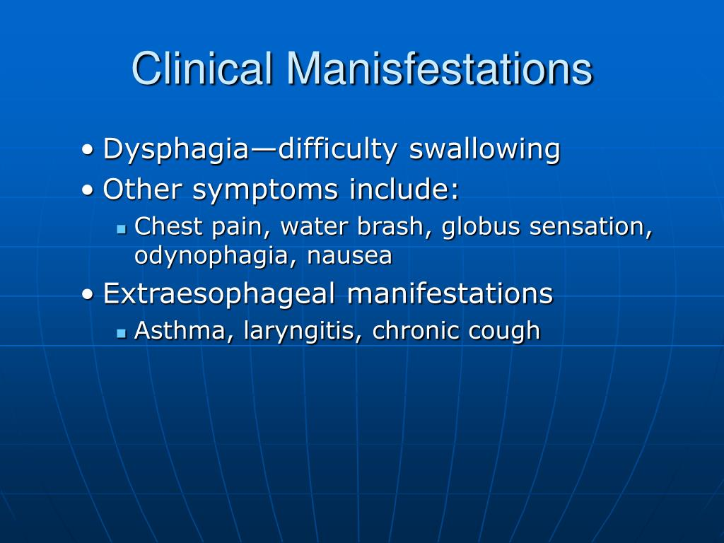 Clinical Manisfestations