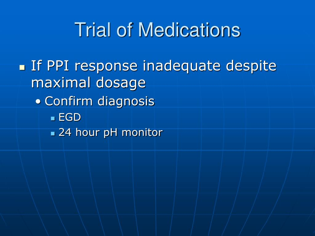 Trial of Medications