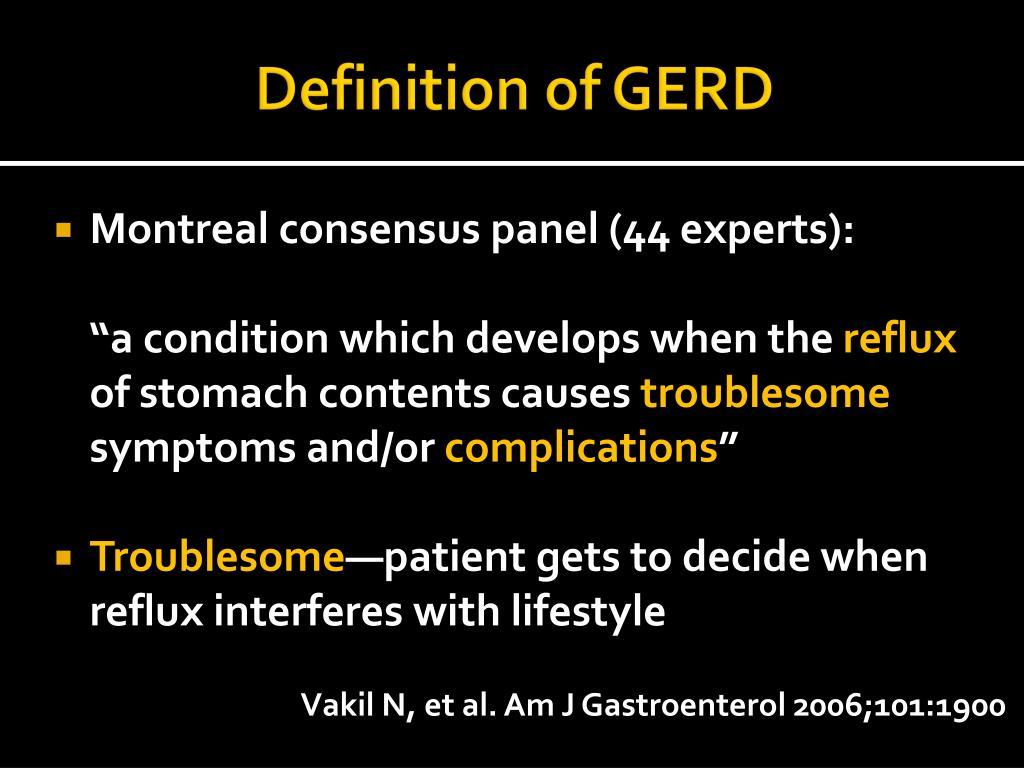 Definition of GERD