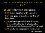 how do patients fare a decade down the line