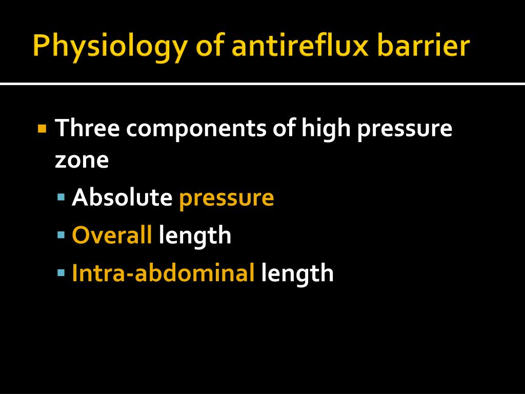 Physiology of antireflux barrier