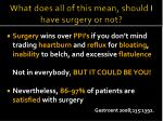 what does all of this mean should i have surgery or not