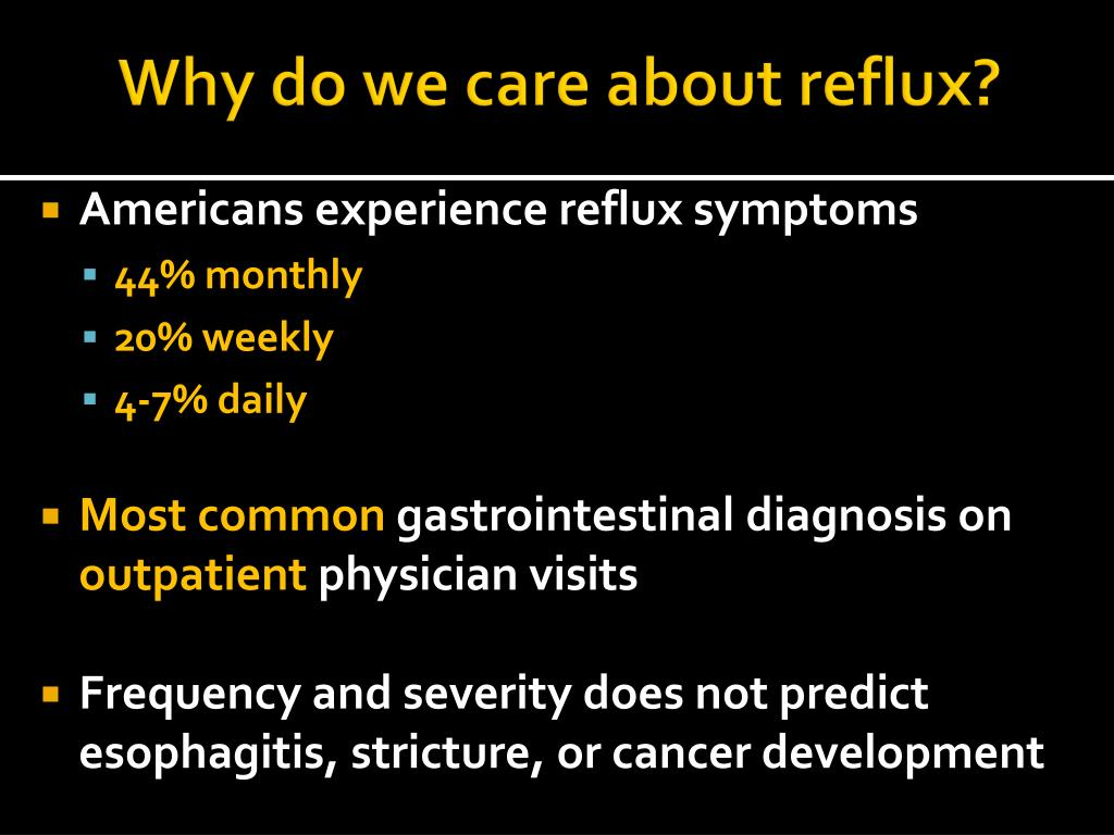 Why do we care about reflux?