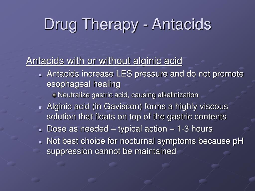 Drug Therapy - Antacids