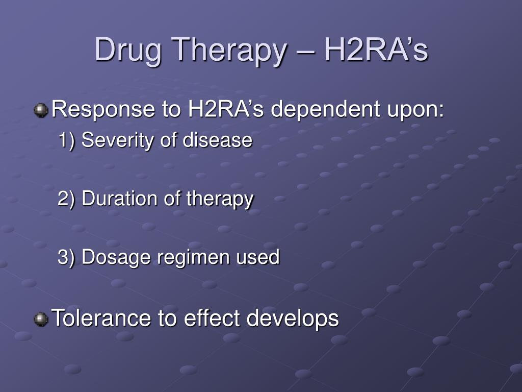Drug Therapy – H2RA's