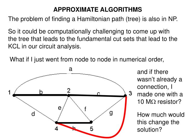 APPROXIMATE ALGORITHMS