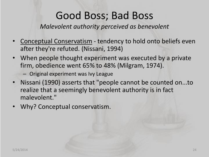 Good Boss; Bad Boss