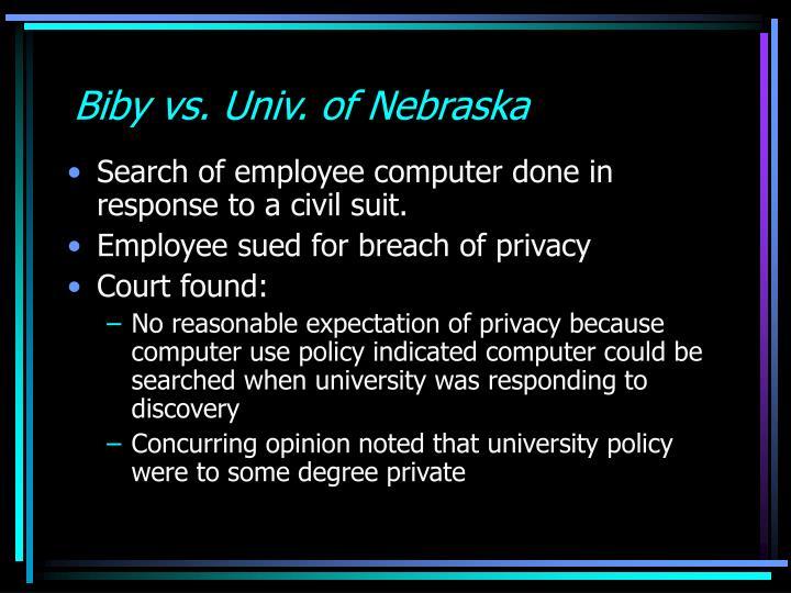 Biby vs. Univ. of Nebraska
