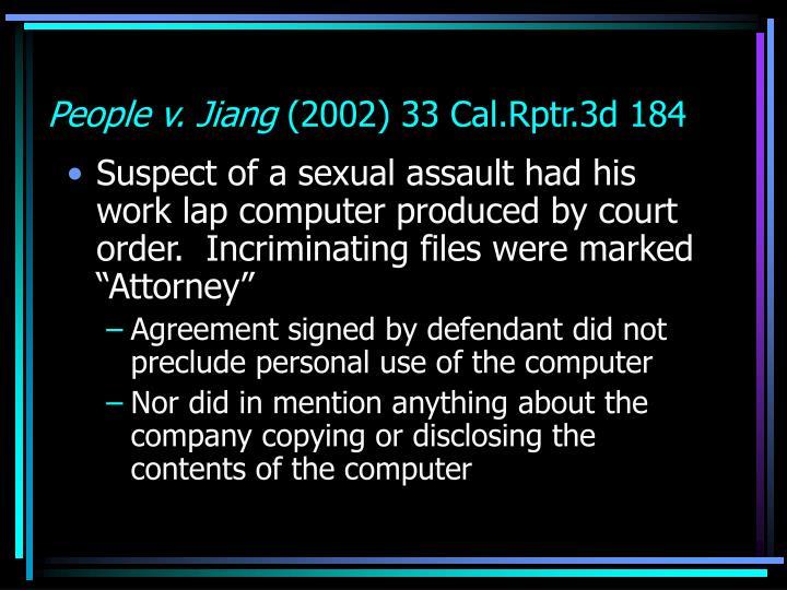 People v. Jiang