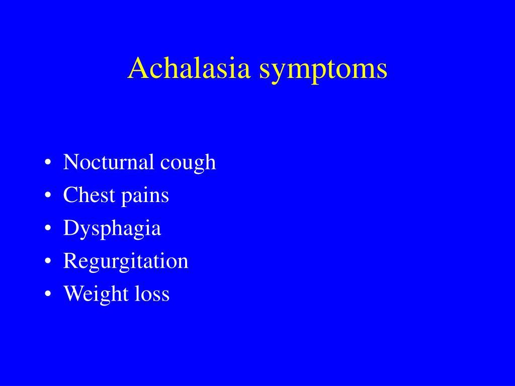 Achalasia symptoms