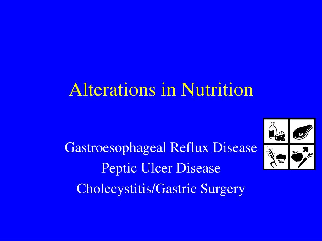 Alterations in Nutrition