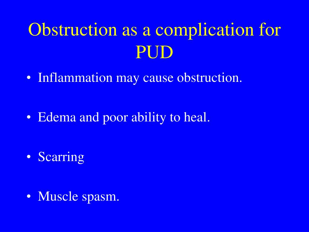 Obstruction as a complication for PUD