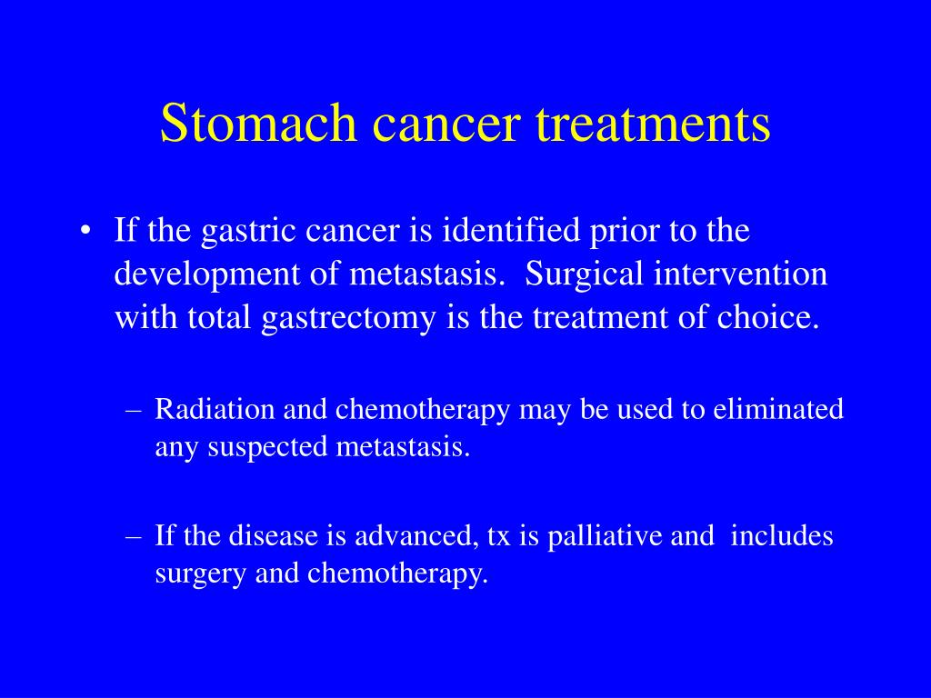 Stomach cancer treatments
