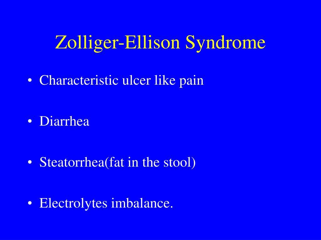 Zolliger-Ellison Syndrome