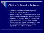 children s behavior problems