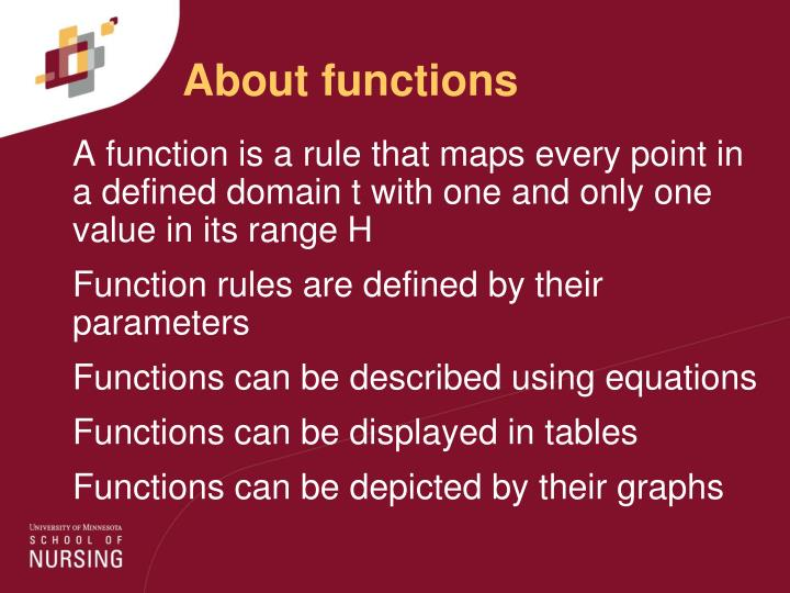 About functions