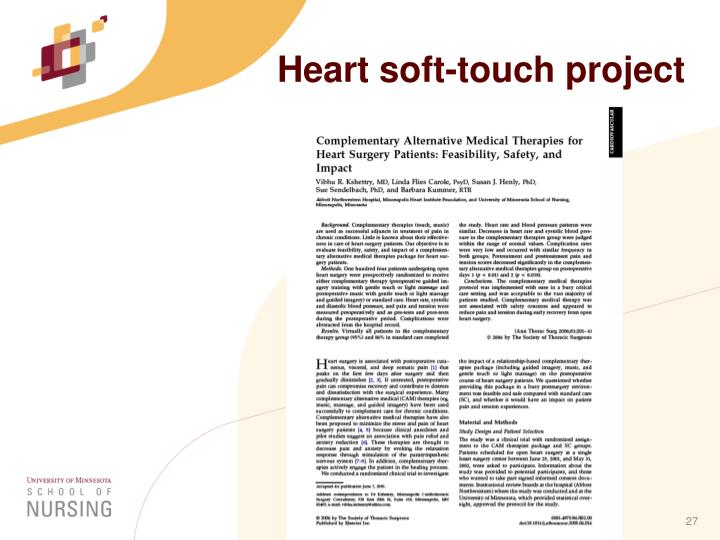 Heart soft-touch project