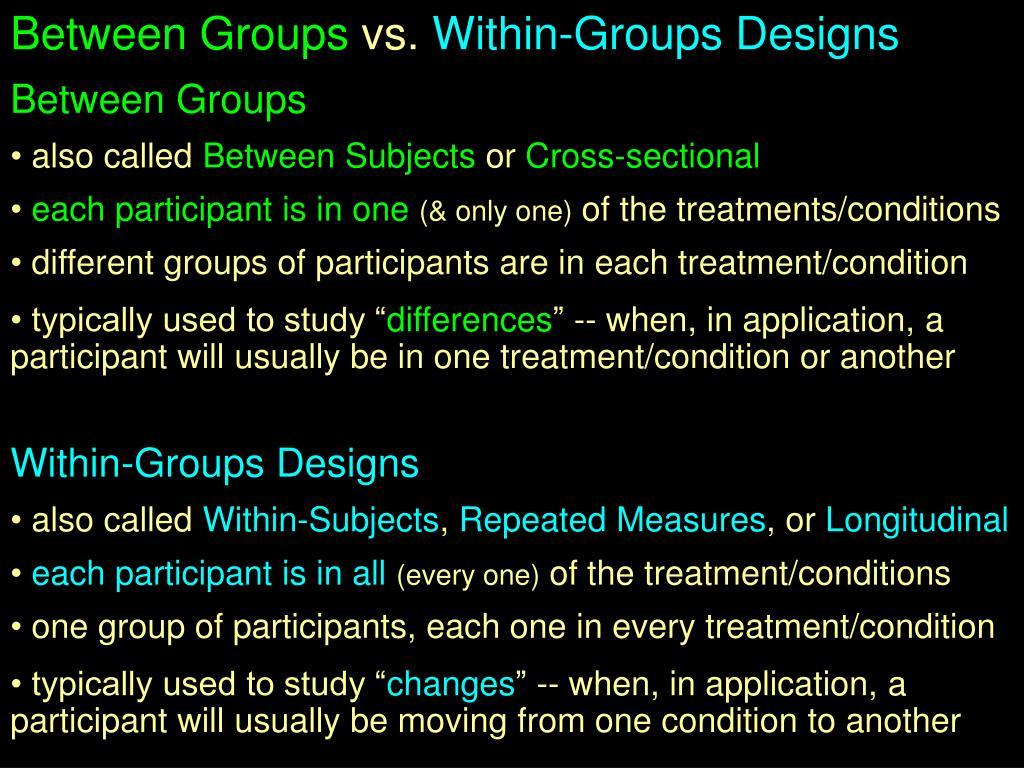Between Groups