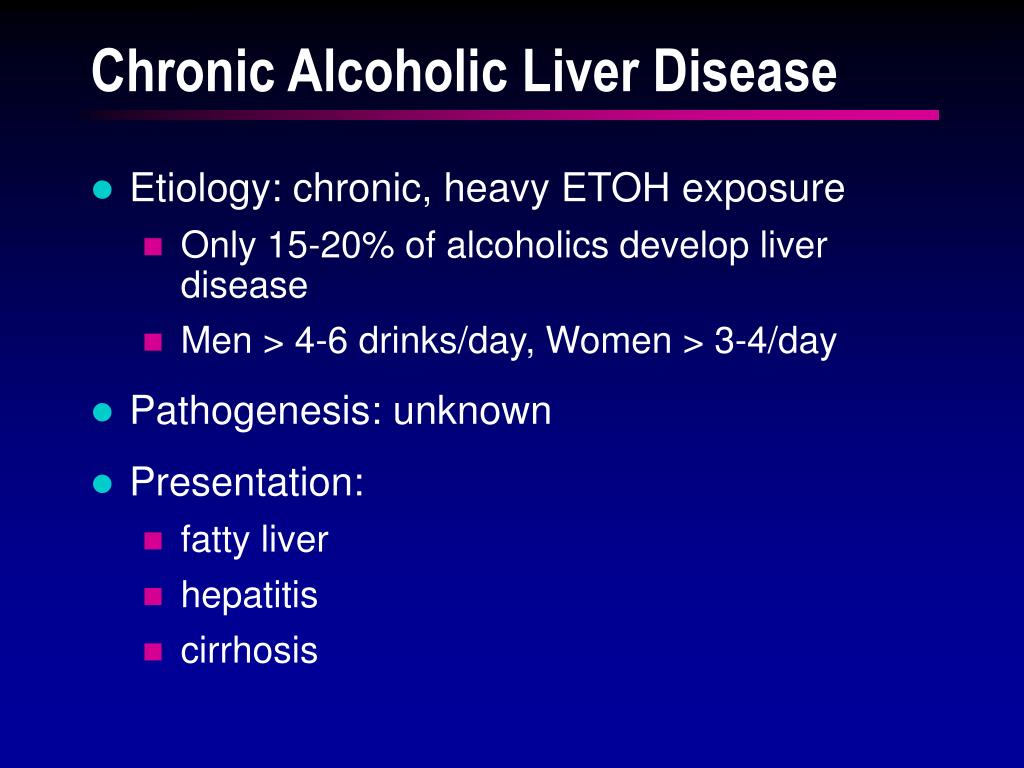 Chronic Alcoholic Liver Disease