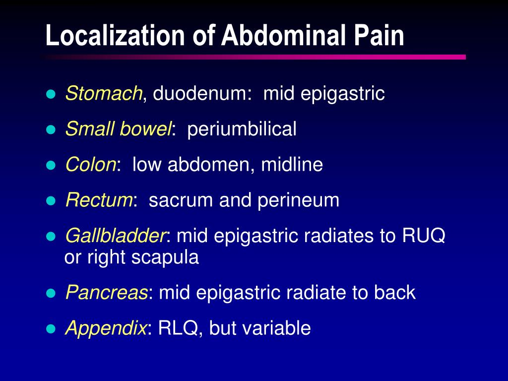 Localization of Abdominal Pain
