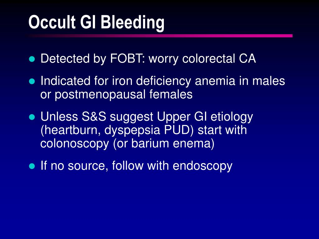 Occult GI Bleeding