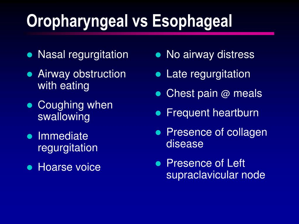 Nasal regurgitation