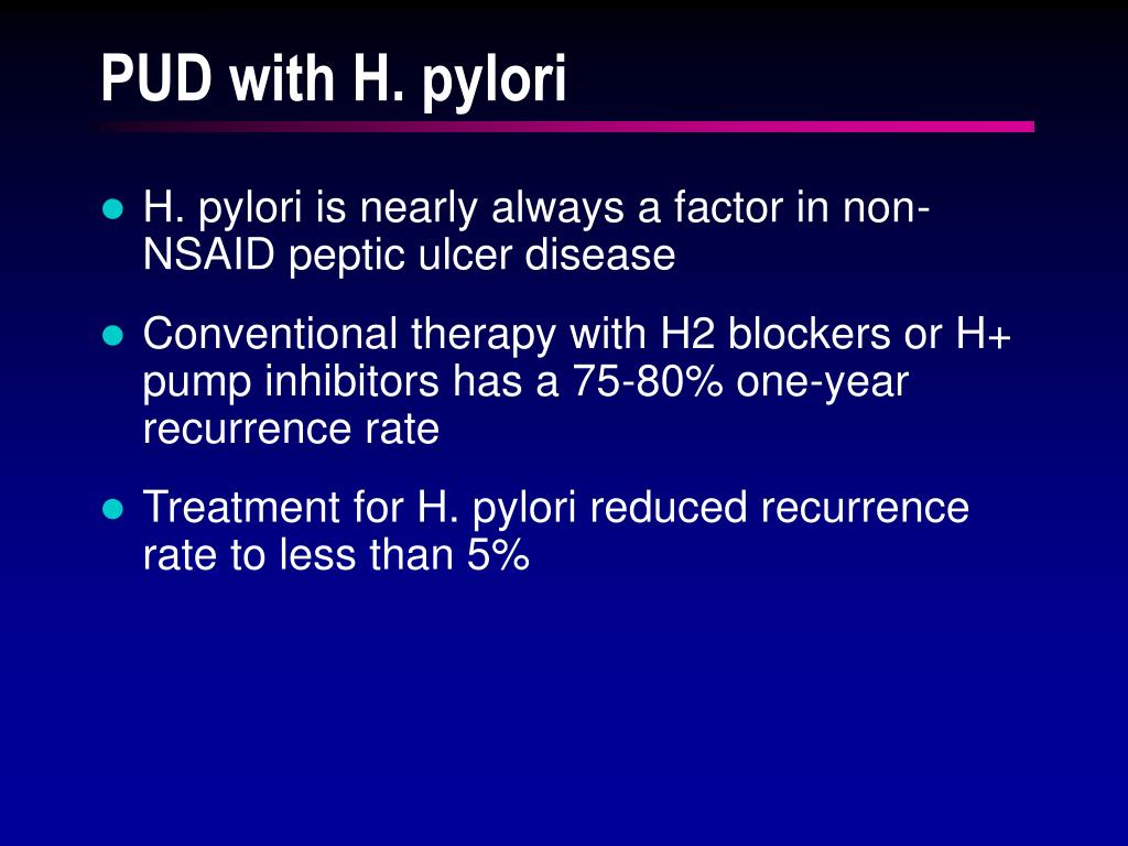 PUD with H. pylori