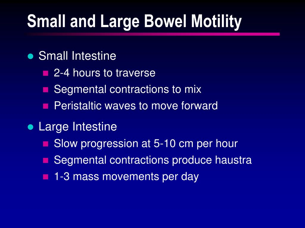 Small and Large Bowel Motility