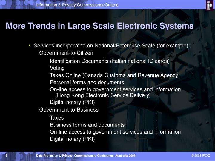More Trends in Large Scale Electronic Systems