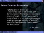 privacy enhancing technologies1