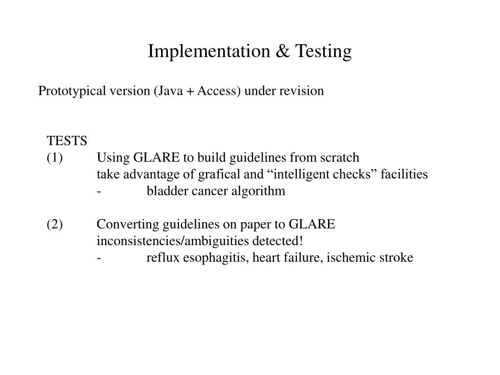 Implementation & Testing