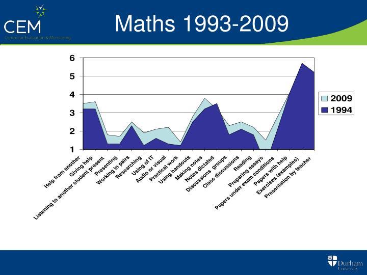 Maths 1993-2009