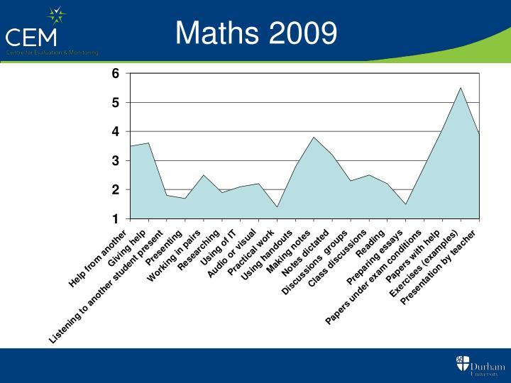 Maths 2009