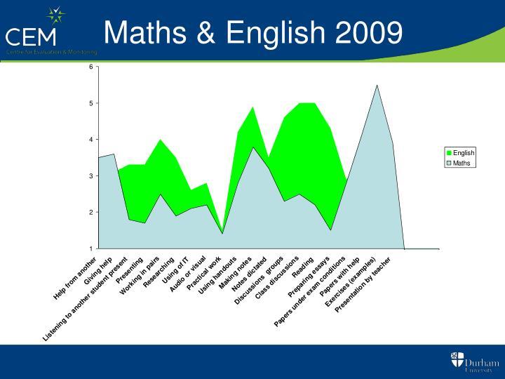 Maths & English 2009