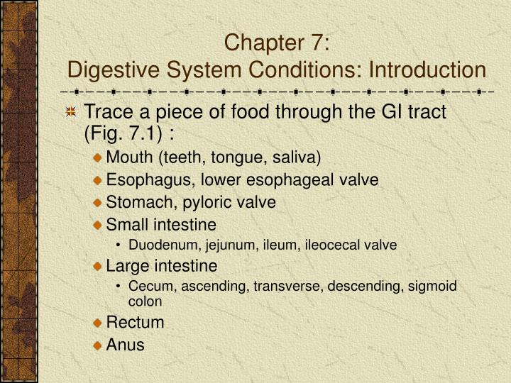 Chapter 7 digestive system conditions introduction