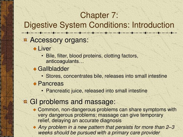 Chapter 7 digestive system conditions introduction2