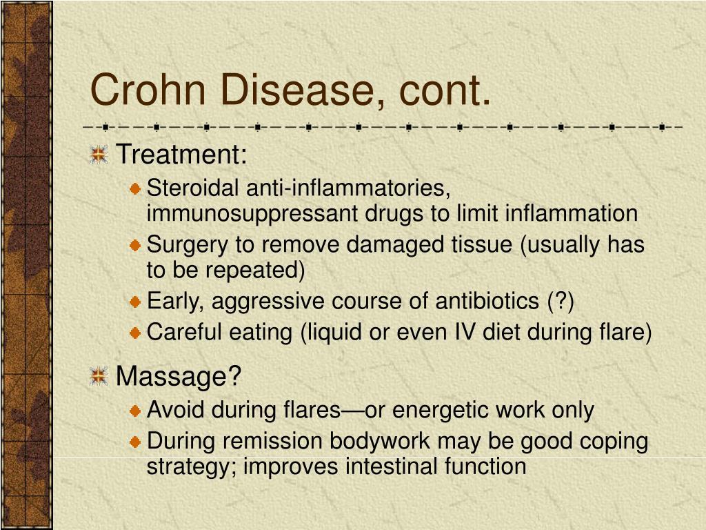 Crohn Disease, cont.