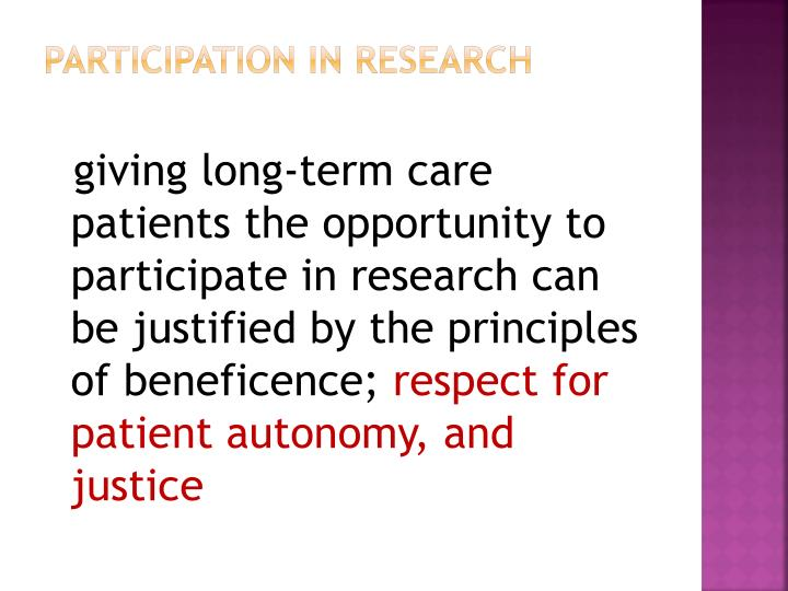 Participation in Research