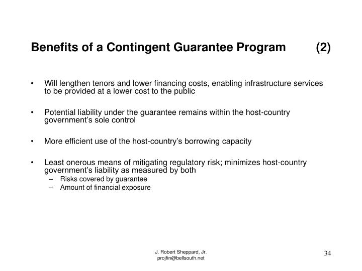 Benefits of a Contingent Guarantee Program         (2)