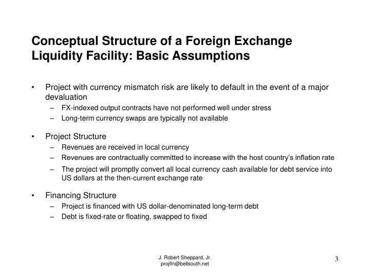 Conceptual structure of a foreign exchange liquidity facility basic assumptions