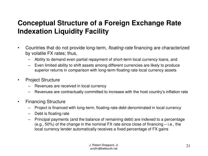 Conceptual Structure of a Foreign Exchange Rate Indexation Liquidity Facility