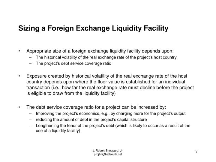 Sizing a Foreign Exchange Liquidity Facility