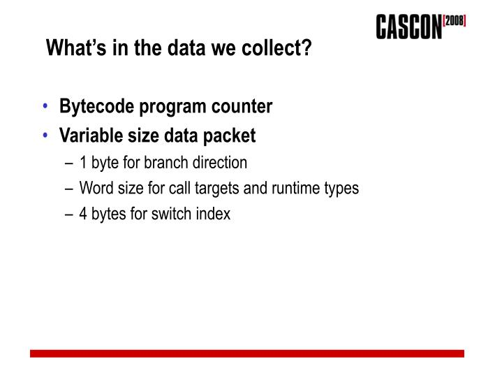 What's in the data we collect?