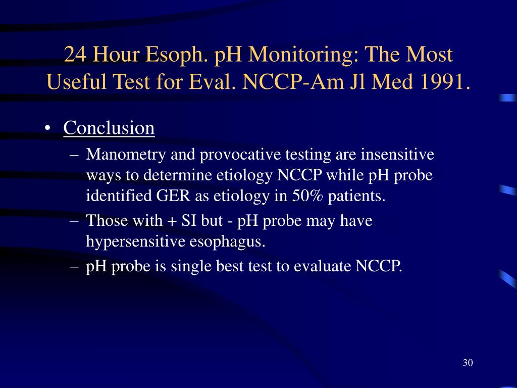 24 Hour Esoph. pH Monitoring: The Most Useful Test for Eval. NCCP-Am Jl Med 1991.