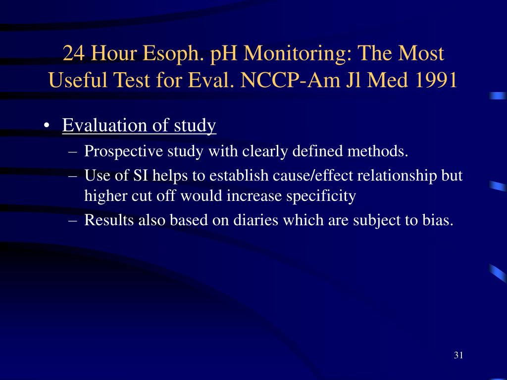 24 Hour Esoph. pH Monitoring: The Most Useful Test for Eval. NCCP-Am Jl Med 1991