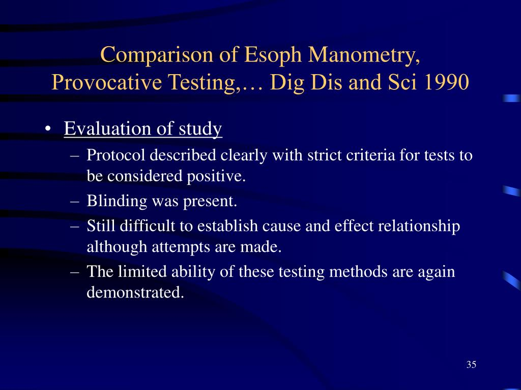 Comparison of Esoph Manometry, Provocative Testing,… Dig Dis and Sci 1990